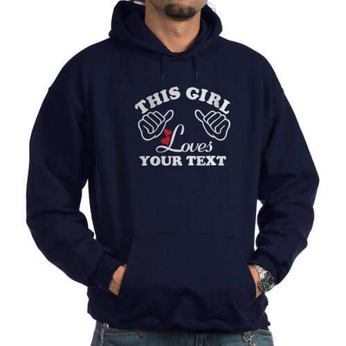 Cafepress Personalized This Girl Loves Women's Hoodie