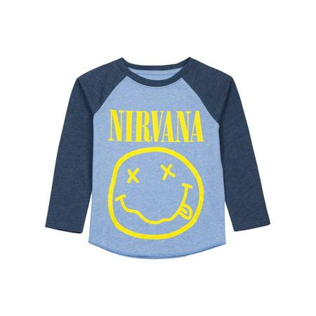 724b1ae5be3e9 Toddler & Baby Boys Smiley Face Nirvana Raglan Shirt | Walmart Canada