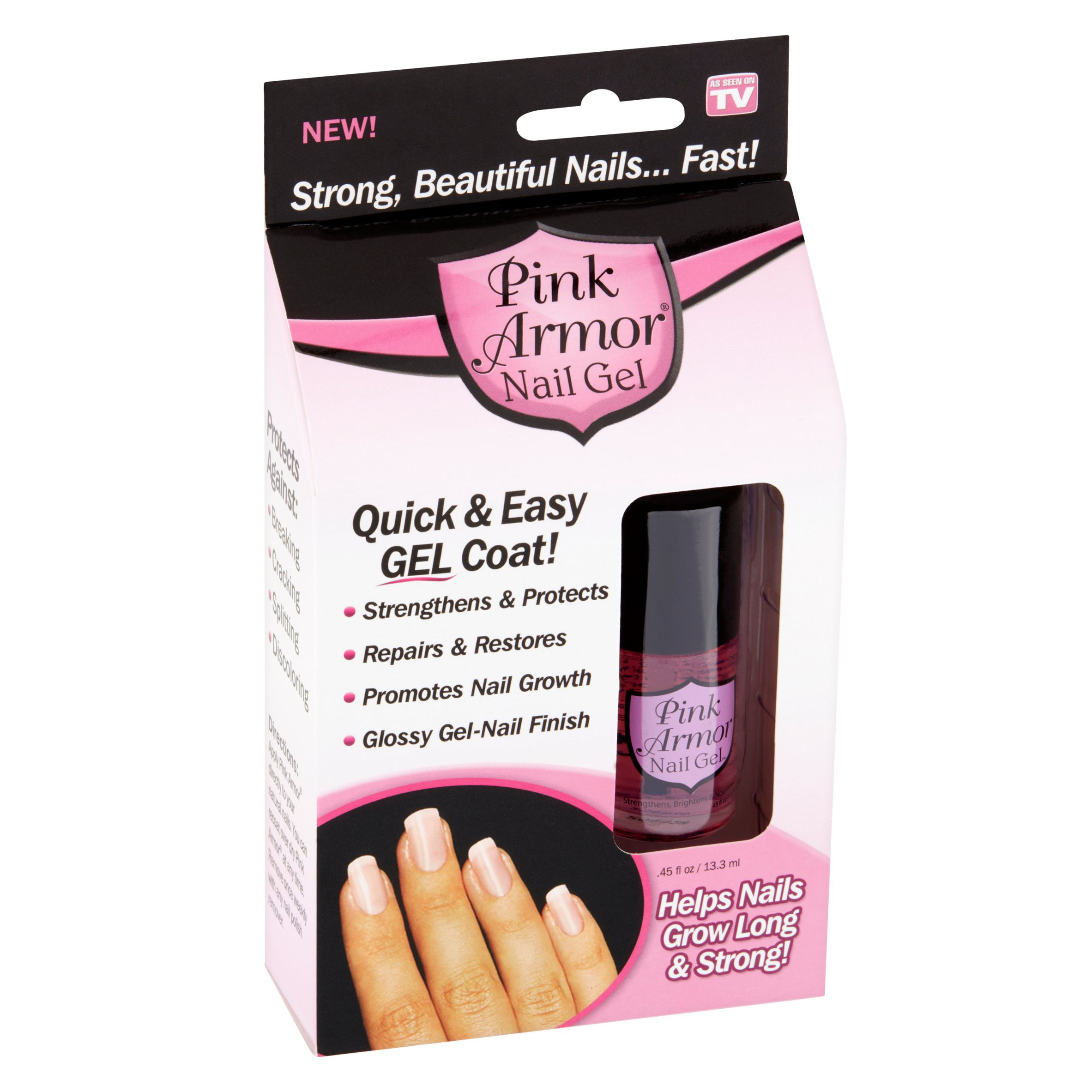 Pink Armor Nail Gel, .45 fl oz - Walmart.com