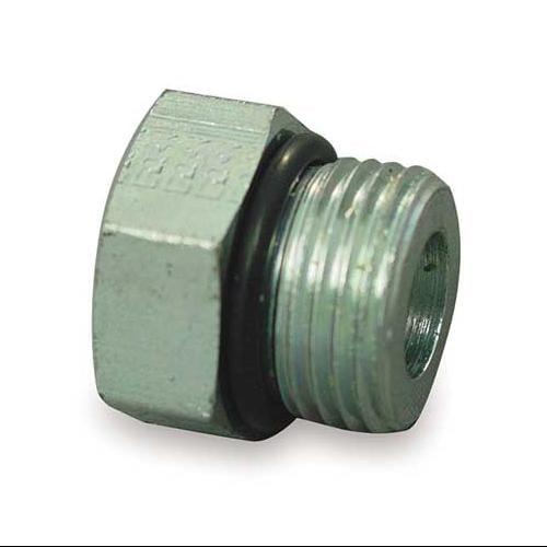 EATON 900598-6S Hose Adapter, Male ORB, Plug, 9/16-18, Steel