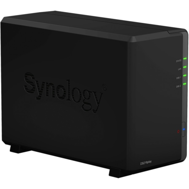 Click here to buy Synology DiskStation DS216play 2-Bay NAS Server w  STM STiH412 & 1GB RAM by Synology.