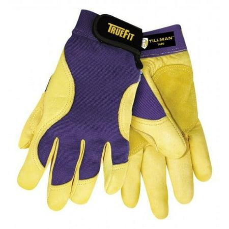 Tillman 1480XL X-Large Blue/Gold True Fit Spandex/Deerskin Mechanics Gloves Golden Eagle Mechanics Gloves