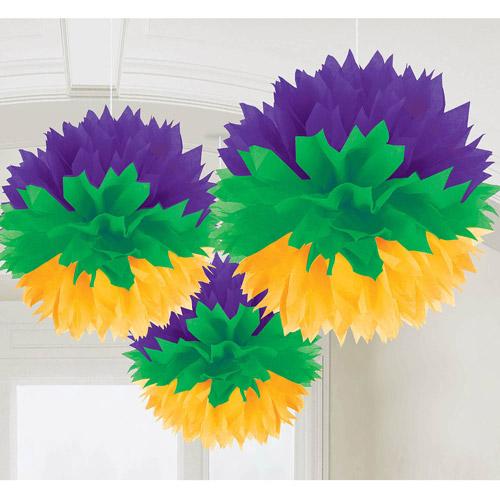 Mardi Gras Fluffy Decorations