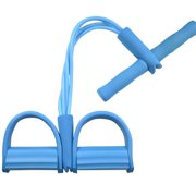 AkoaDa Abdominal Fitness Rally Pedal Puller Sit-up Trainer, Latex Pull Rope Fitness Equipment Abdominal Exerciser Sports Four-Leg Rope