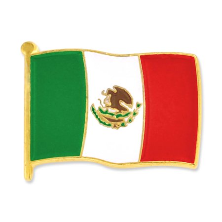 Mexico Mexican World Flag Enamel Lapel Pin 3/4''