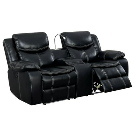 Awe Inspiring Furniture Of America Stanton Faux Leather Power Reclining Loveseat Pdpeps Interior Chair Design Pdpepsorg