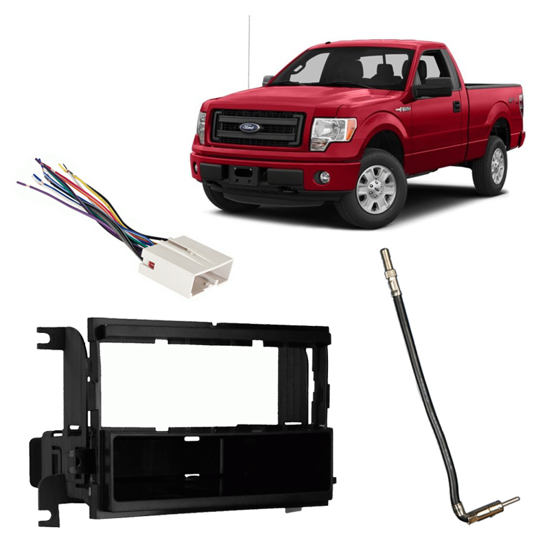 Fits Ford F-150 XL w/o Options 2009-2014 Single DIN Harness Radio Dash Kit