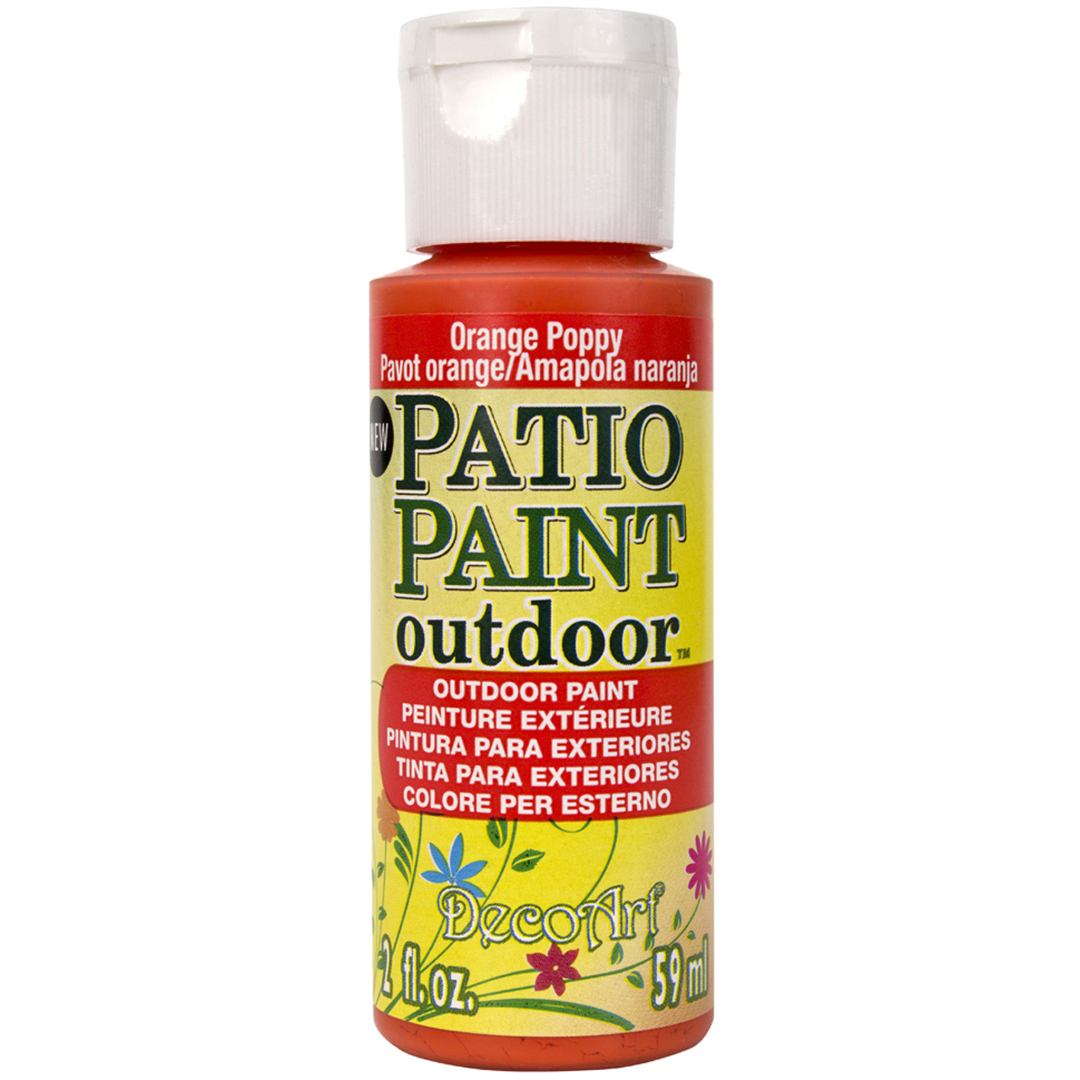 Patio Paint 2oz-Orange Poppy