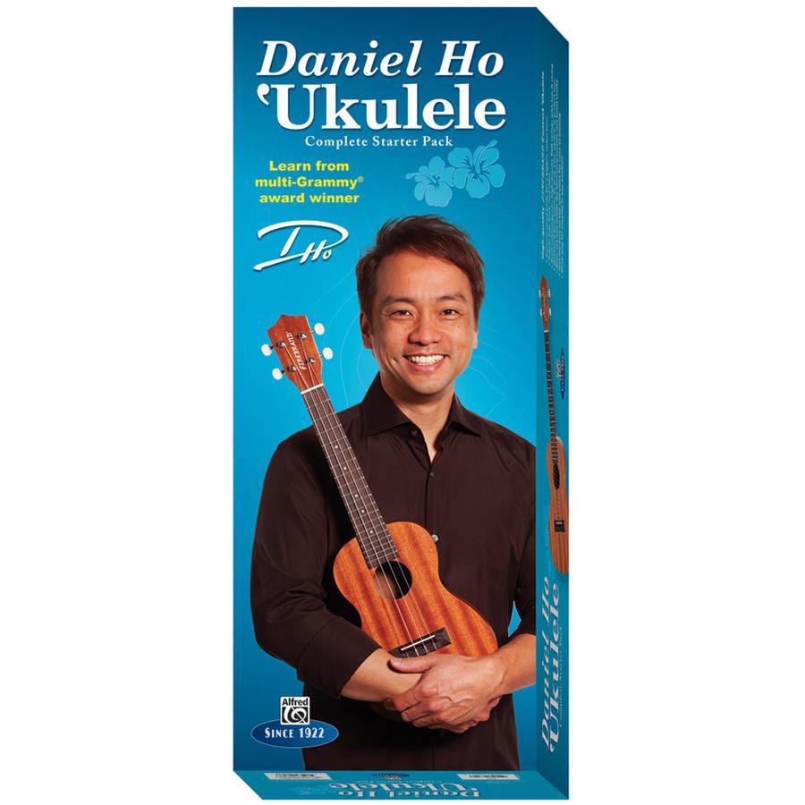 Alfred's Daniel Ho Ukulele Complete Starter Pack Concert Ukulele, Strap, DVD, SHeet Solo,... by Alfred