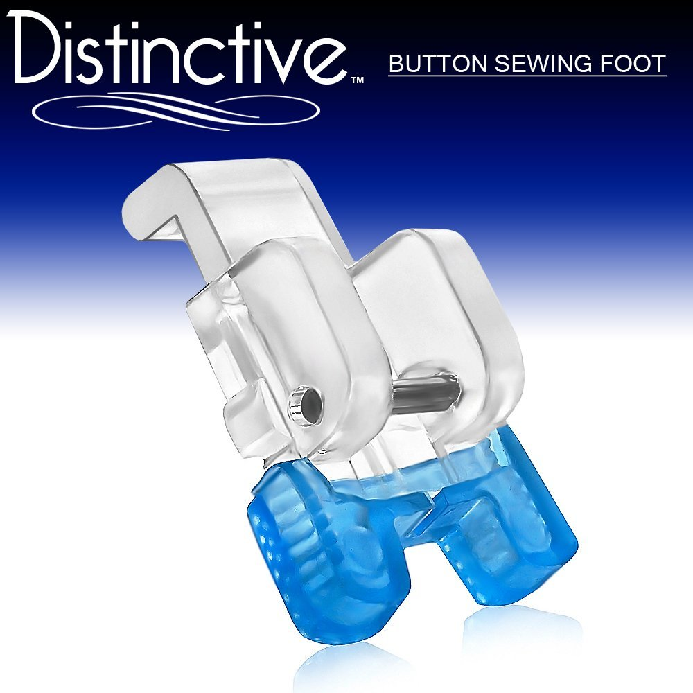 Distinctive Button Sewing Machine Presser Foot - Fits All Low Shank Snap-On Machines