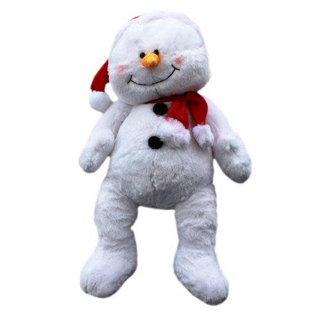 Snowden the Santa Hat Wearing Snowman Jumbo Plush Toy - By Ganz (21in)