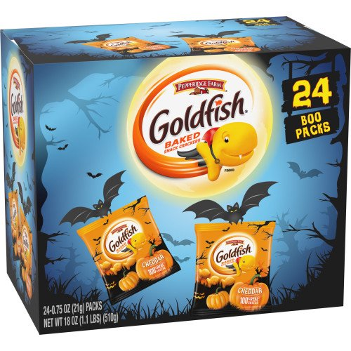 Msl Farming Halloween 2020 Candy Pepperidge Farm Goldfish Cheddar Crackers, Halloween Edition Multi