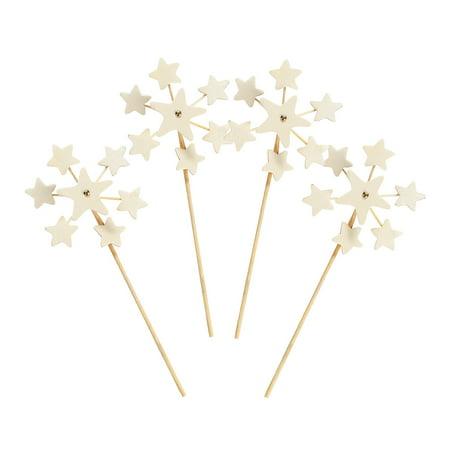 IN-48/1462 DIY Wood Mini Star Pinwheels Makes 12 By Fun - Diy Pinwheels