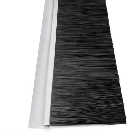 Door Bottom Sweep h-Shape Base with 4-inch Black Nylon Brush 39-inch x 5-inch - image 2 of 5