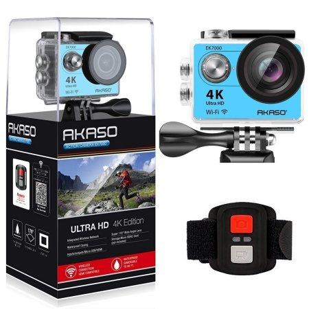 AKASO EK7000 4K WIFI Outdoor Sport Action Camera Ultra HD Waterproof DV Camcorder 12MP Extreme Underwater 1080p/60fps Video Cam-Black