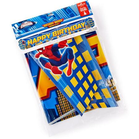 Hallmark Party Spiderman Deluxe Birthday Banner