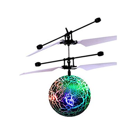 - RC Toy EpochAir RC Flying Ball,Qisc Crystal Flashing LED Light Flying Induction Disco Ball with Remote Switch