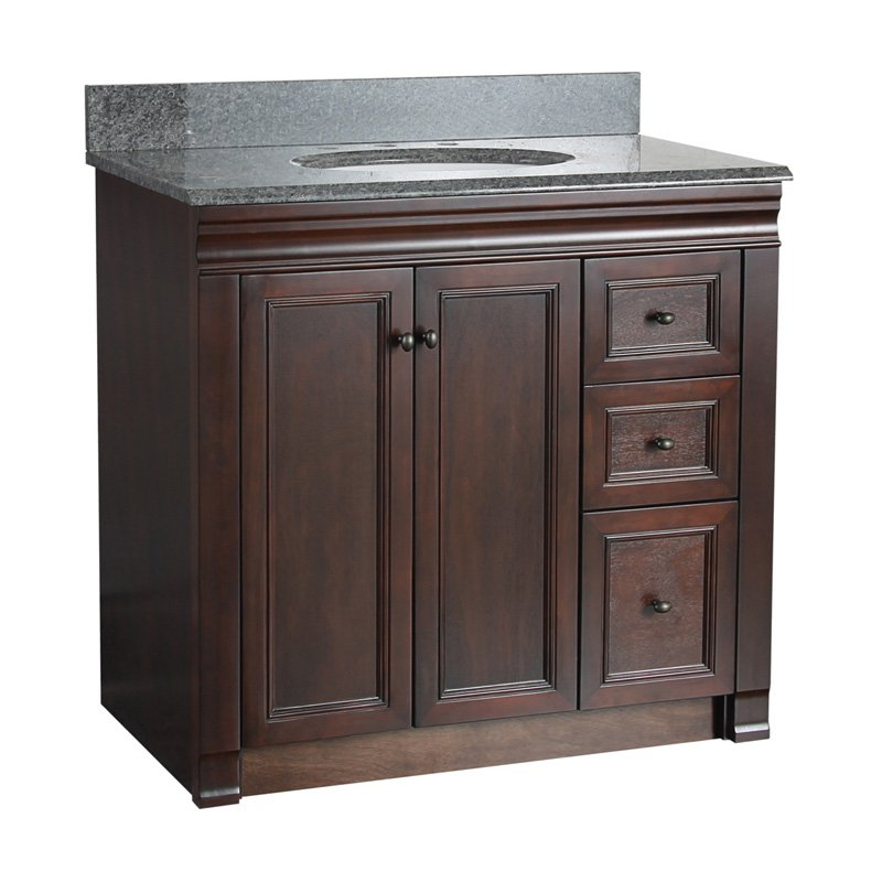 Single Bathroom Vanity With Left Side Drawers