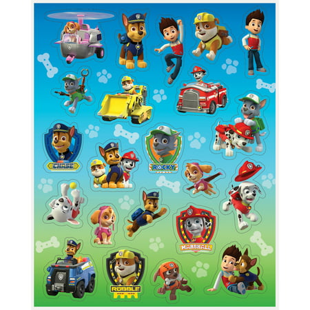 PAW Patrol Sticker Sheets, 4ct - Blank Sticker Sheets