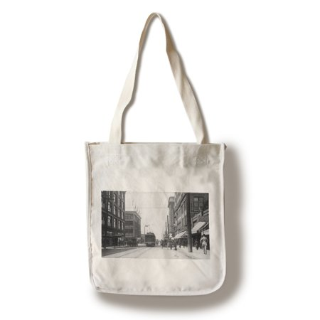 Seattle  Washington   Western View Of Pike Street From Third Ave  100  Cotton Tote Bag   Reusable
