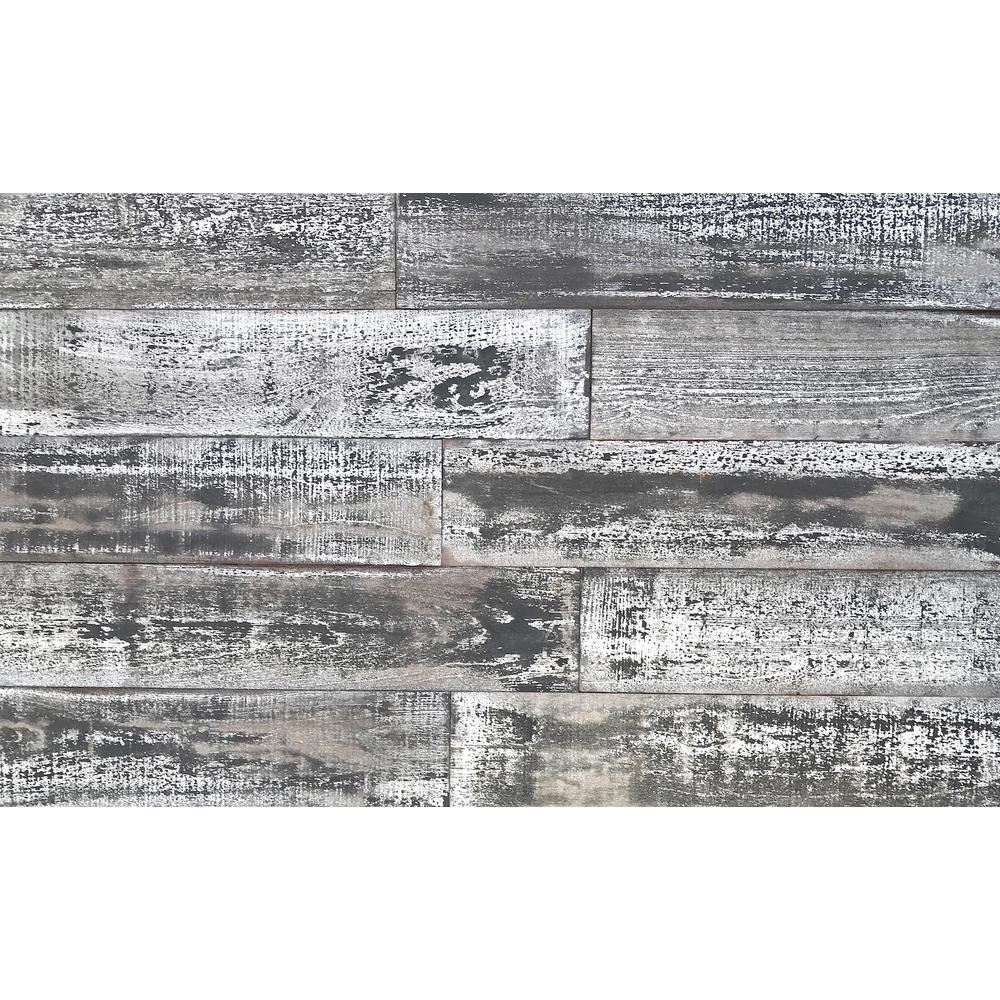 1/4 in. x 5 in. x 2 ft. Whitewash Reclaimed Smart Paneling 3D Barn Wood Wall Plank (12 – Case)