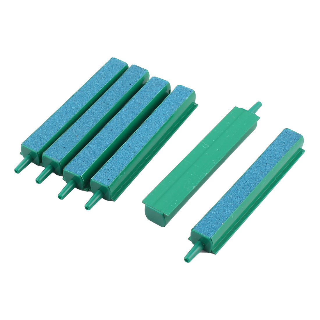 Unique BargainsAquarium Plastic Connector Air Bubble Stone Bar Strip Green 10cm Length 6 PCS