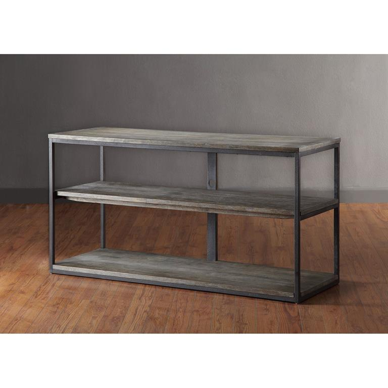 Madison Park Cirque Media Console Table In Grey