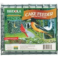Birdola Large Cake Feeder with Fold Down Perches for Birds