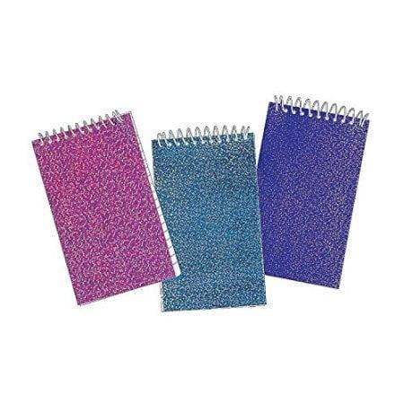 Glitter Spiral Notepads - Package of 2 dozen