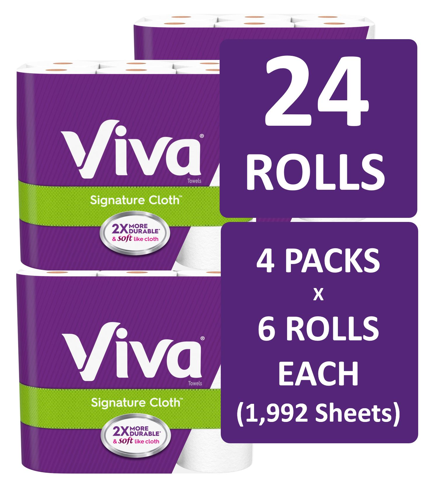 Soft /& Strong Kitchen Paper Viva Signature Cloth Choose-A-Sheet Paper Towels
