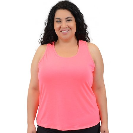 Plus Size Relaxed Fit Tank Top - 2X (16-18) / Pink - Plus Size Punk