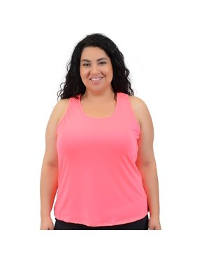8bcfad185 Free shipping. Product Image Plus Size Relaxed Fit Tank Top - 2X (16-18)    Pink