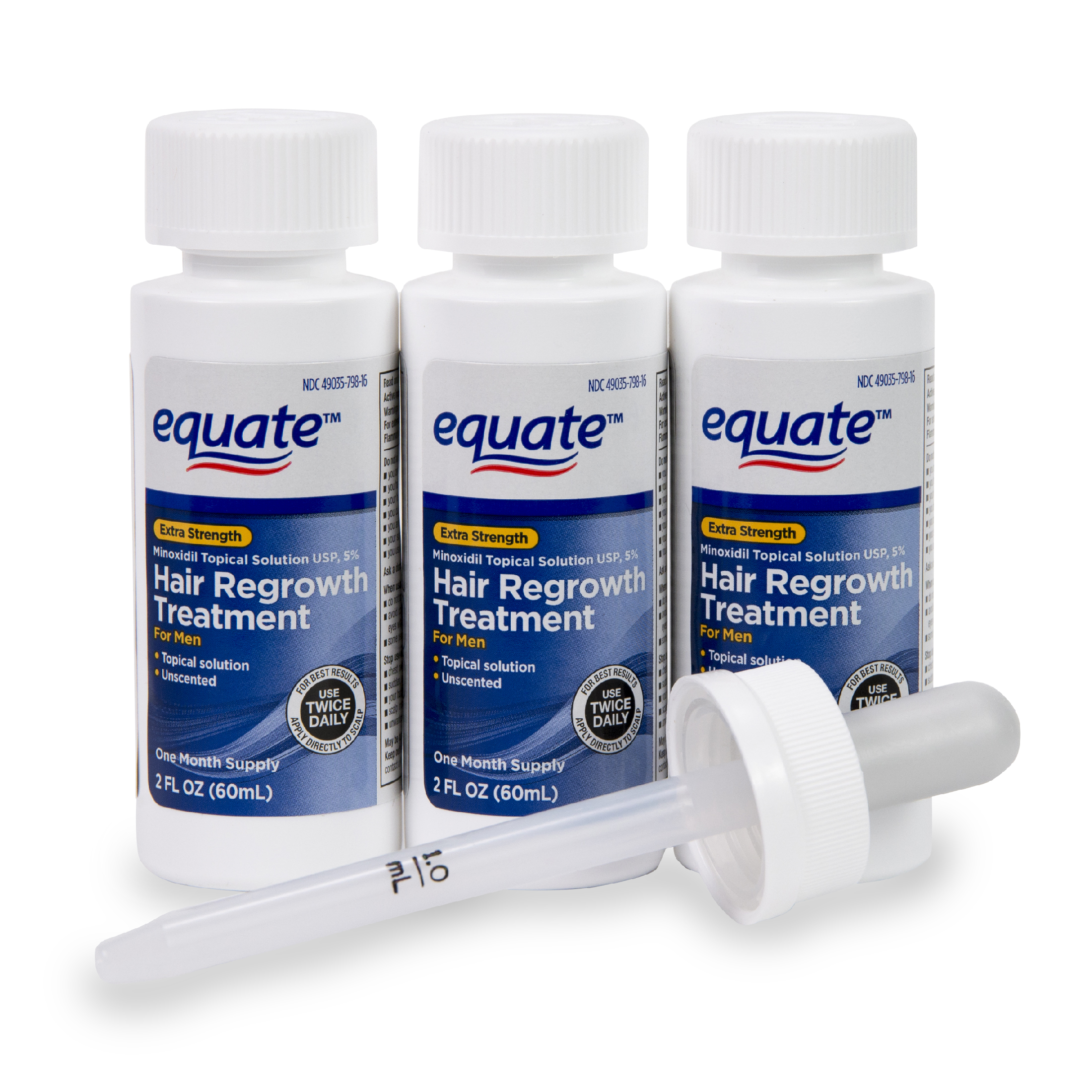 Equate Mens Minoxidil Hair Regrowth Treatment For Men 3 Month Beauty Barn Mom All Mane Shampo0 250 Ml Supply