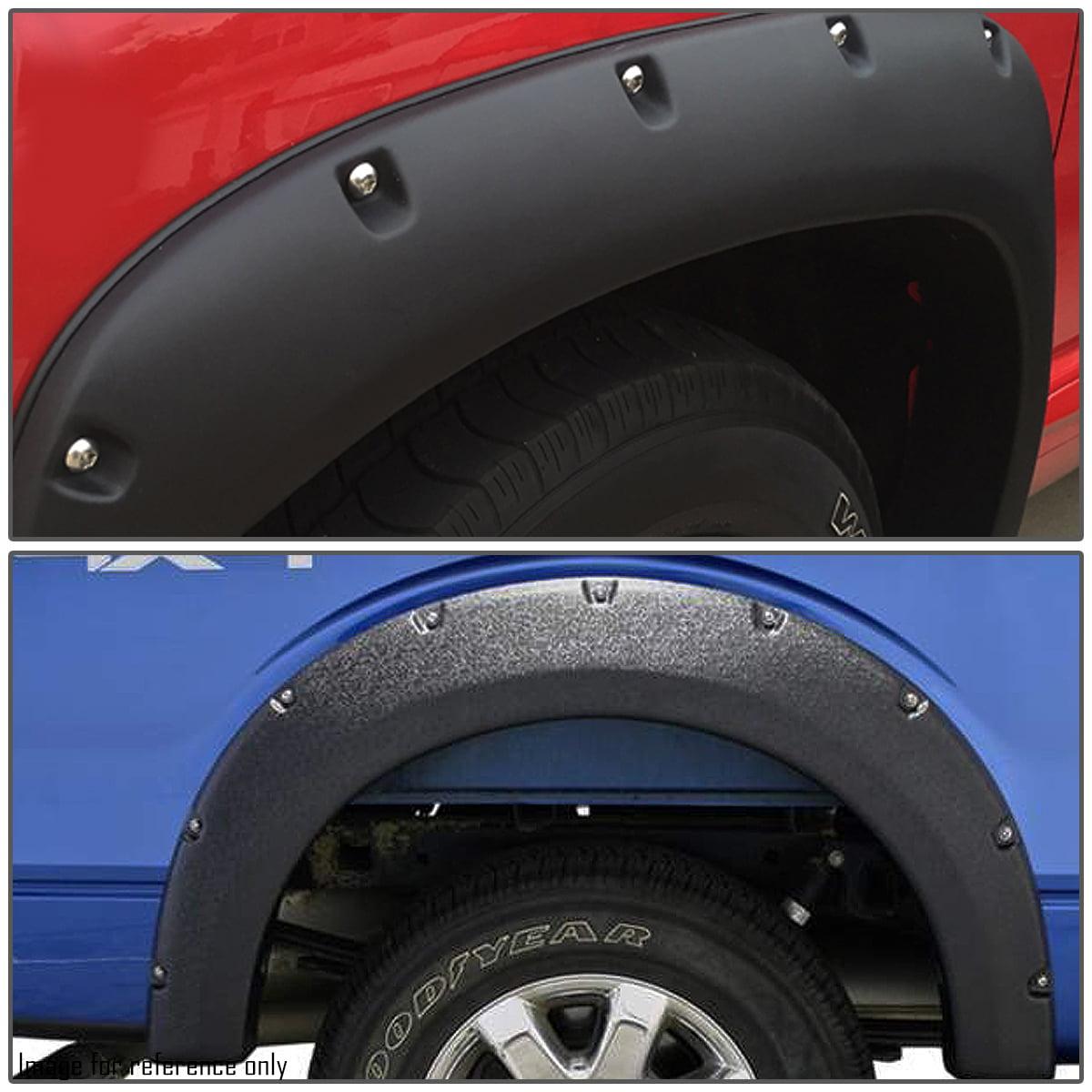 Black For Dodge Ram Grain Textured Pocket-Riveted Style Side Fender//Cover//Protector Wheel Flares 3rd gen
