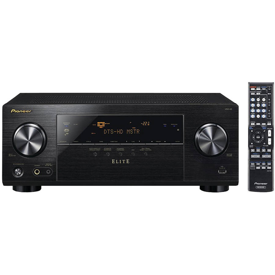 Pioneer Elite VSX-45 5.2-Channel AV Receiver with Built-In Bluetooth and Wi-Fi (Black) by Pioneer