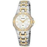 Pulsar Womens Two Tone Crystal Watch