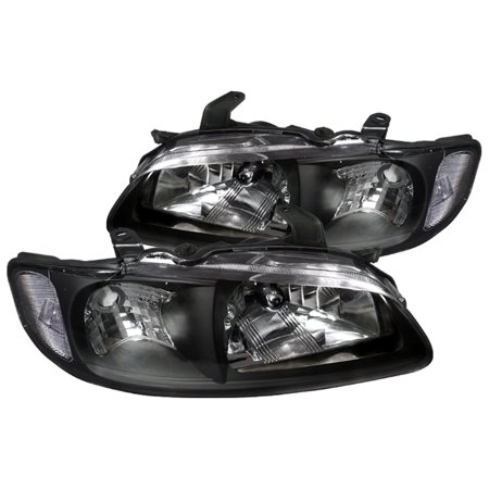 Spec-D Tuning For 2000-2003 Nissan Sentra Jdm Diamond Headlights Head Lamps Black 2000 2001 2002 2003 (Left+Right)