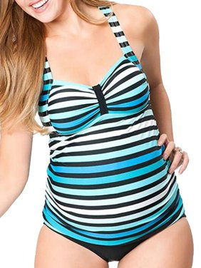 ec1a3e9df7 Product Image STARVNC Pregnant Women Two-piece Striped Multi-level Printing Tankini  Swimsuit