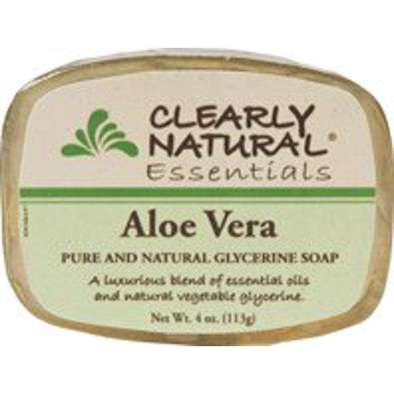 Soap (Glycerine)-Aloe Vera Clearly Natural 4 oz Bar Soap