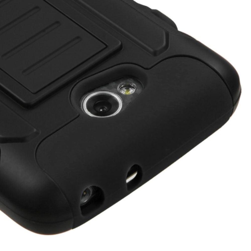 Insten Black/Black Hybrid Tough Thin Premium Case For LG Optimus L70 Optimus Exceed 2 Dual D325 - image 1 de 3