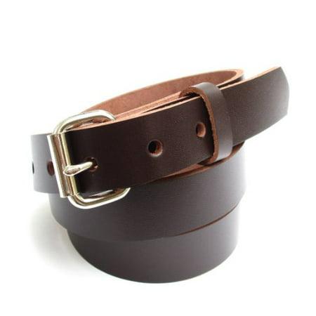 Heavy Brown Leather (Heavy Duty Dark Brown Mens Leather Belt 1