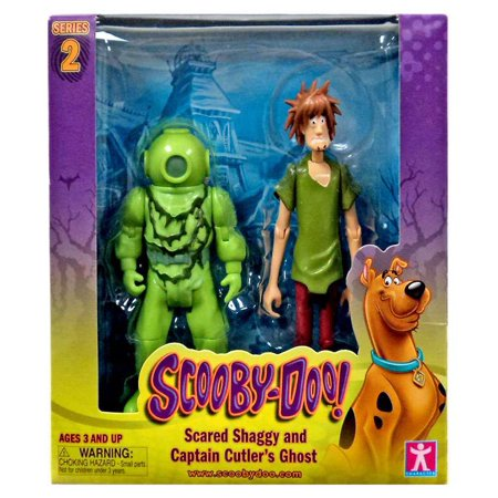 Scooby Doo Series 2 Scared Shaggy and Captain Cutler's Ghost Action Figure - Shaggy Scooby Doo Wig