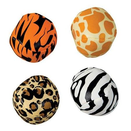 12 Safari Jungle Zoo Animal Print Kick Ball Sacks Party Favors Zebra Lion Tiger