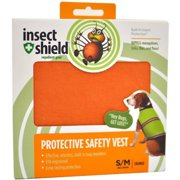 Insect Shield Protective Safety Vest Small/Medium, Orange