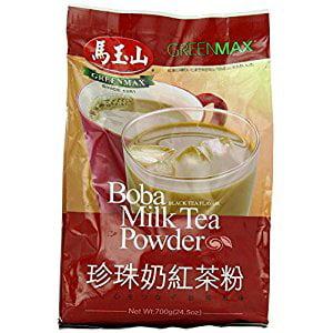One Free NineChef Spoon + Greenmax Boba Milk Tea Powder  Black Tea  24.5 Ounce (1