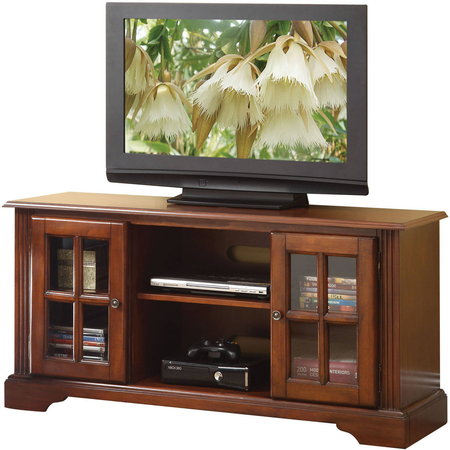 "ACME Basma TV Stand for Flat Screens TVs up to 50"", Cherry"