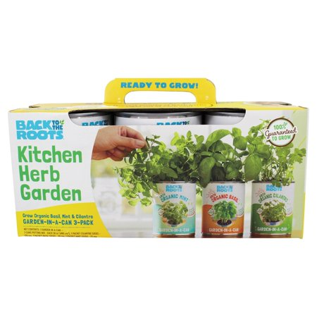 Back to the Roots - Kitchen Herb Garden In A Can - 3 Pack