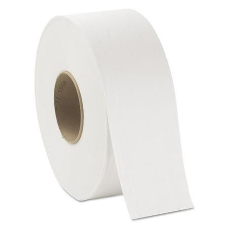- JRT Jumbo Bath Tissue, 2-Ply, White, 3