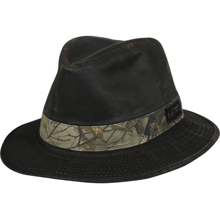 Men s Realtree Brown Weathered Cotton Safari Hat - Walmart.com 166f93ab429