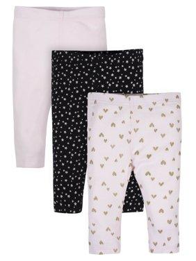 Gerber Organic Cotton Active Pants, 3pk (Baby Girls)